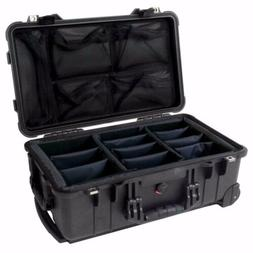 1510 Carry-On Hard Case Black Padded Dividers 19x75x11x7.6