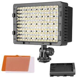 Neewer 2-Pack CN-160 Dimmable 160 LED Camera Camcorder Video
