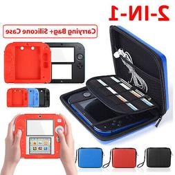 2In1 Hard Shell Carrying EVA Bag+Soft Silicone Bumper Case C