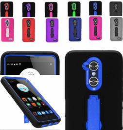 2Layer Shockproof Case Cover w/2Way Stand For ZTE ZMAX Pro /