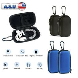 2Pcs Headphone Portable Case Earbud Pouch Carrying SD Card B