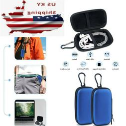 2Pcs Portable Case Headphone Earbud Pouch Carrying SD Card B
