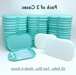 3 PCS Face Mask Carrying Case Box Cover Storage Protective P