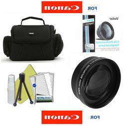 58MM ZOOM LENS + CARRYING CASE BAG +TRIPOD FOR CANON EOS REB