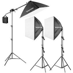 Neewer 600W Studio Continuous Light Kit with 3pcs 60*60cm So
