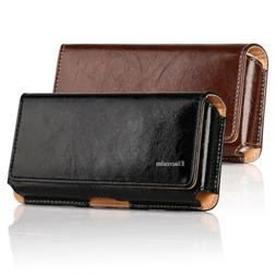 Cellphones Horizontal Carrying Leather Pouch Case Cover With