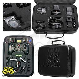 DIY Carrying Case  for Mini Drone Quadcopter, Action Cameras