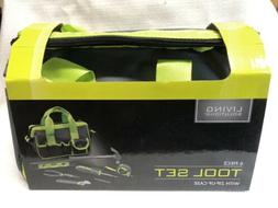 Living Solutions 6 Piece Tool Set Zip-Up Case New