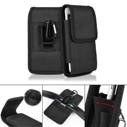 Black Belt Clip Vertical Holster Pouch Carrying Case Cover F