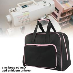 Black Padded Sewing Machine Bag / Carry Case with Pocket Cra