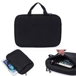 Black Tablet Neoprene Sleeve Pouch Handle Carry Bag Case For