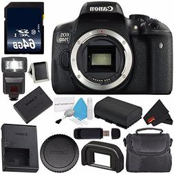Canon EOS Rebel T6i/750D DSLR Camera   + 64GB Memory Card +