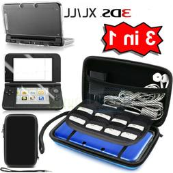 Carrying Bag+Clear Case Cover+Screen Protector for New Ninte