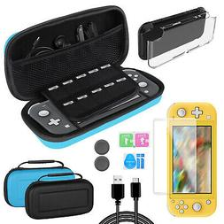 Carrying Case Bag+Clear Cover Shell+Tempered Glass Film For