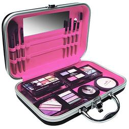 Ikee Design Jewelry and Cosmetic Travel Case Pink, Black