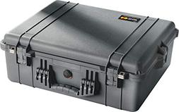 "Equipment Case with Foam: 6.5"" x 8.13"" x 3.5"" Color: Black"