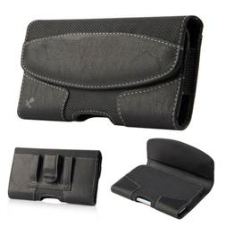 Leather Holster Belt Clip Carrying Case Horizontal Pouch For