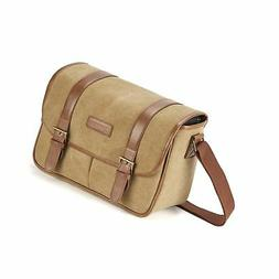 Classic Camera Bag, Evecase Large Canvas Messenger SLR/DSLR