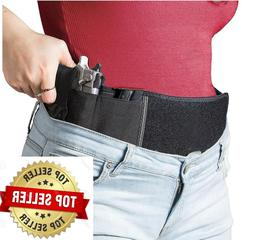 Concealed Carry Belly band holster with magazine pocket. Sof