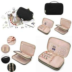 double layer travel jewelry organizer storage carrying