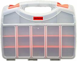 Double Sided Storage Organizer Carrying Case Adjustable Comp