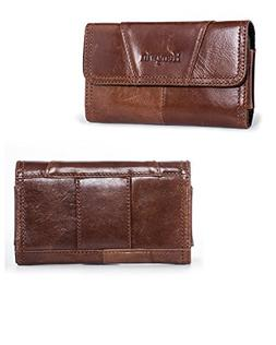Hengwin Premium Horizontal Leather Carrying Case Pouch Holst