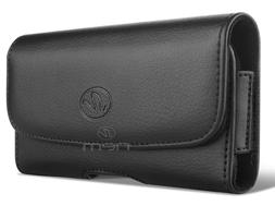 Horizontal Leather Carrying Case Pouch Clip Holster for Moto