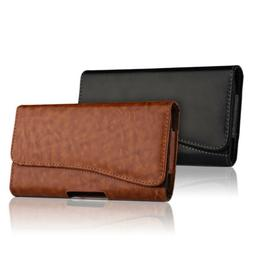 HORIZONTAL LEATHER CASE FOR IPHONE 8 / 8 PLUS CARRYING POUCH