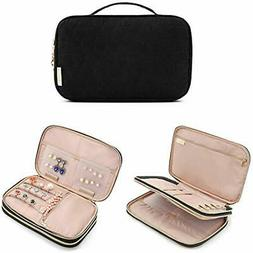 Jewelry Boxes Double Layer Travel Organizer Storage Carrying