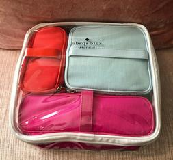Kate Spade Cosmetic Bag Collection: 3 Bright Cosmetic Bags,