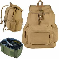 Khaki Camera Case Backpack Shoulder Carry Travel Bag for DSL