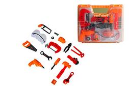 Kids Toy tool Set With Carrying Case Pretend Play Contractor