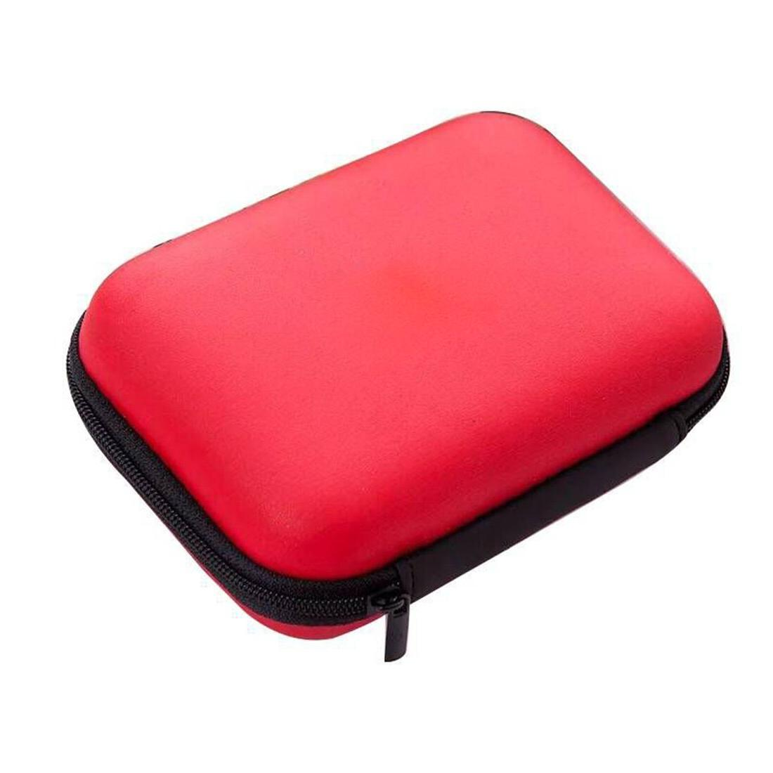 2.5 inch External Drive Disk Protective HDD <font><b>Carry</b></font> Bag Portable Pouch USB Cable Power