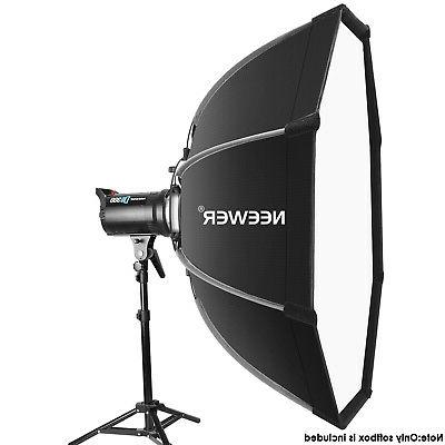 "Neewer 26"" Foldable Softbox with Bowens Speedring, Case"