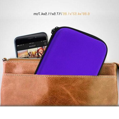 MoKo 5in/7in Car Carrying Case Protective Pouch Bag