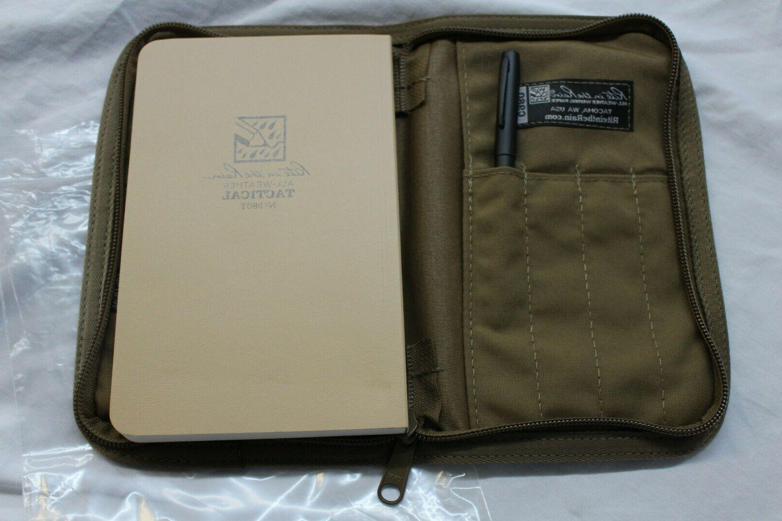 980T WEATHER 5X7 NOTEBOOK/PEN CASE TAN