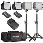 Neewer 2pack CN-160 LED Dimmable Photo Camera Camcorder Vide