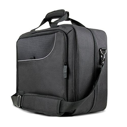 Protective Travel Projector Padded Accessory Pouch Shoulder Strap - With Crenova XPE700 Epson 1761W H6510BD and More!