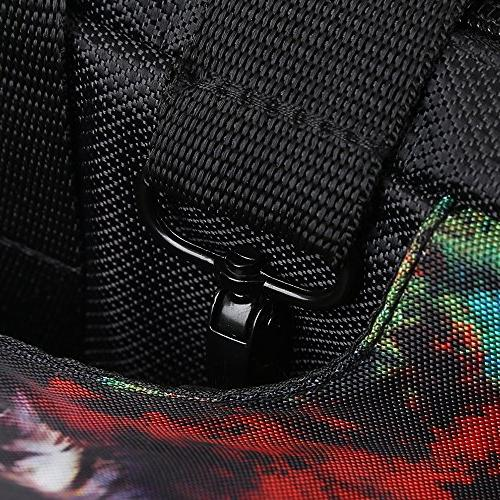 TaylorHe 15.6 inch inch 16 inch Hard Wearing Nylon Carry Case Colourful Bag with Pockets Strap London Jack