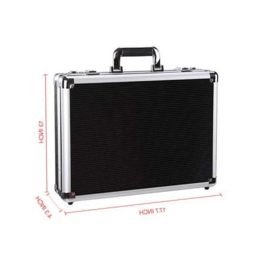 Aluminum Hard Briefcase Carrying Suitcase Home