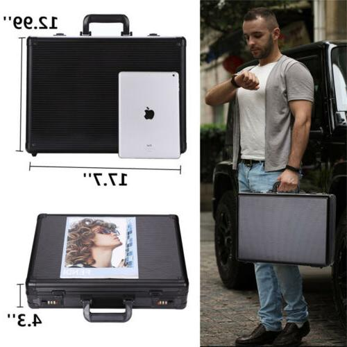 Aluminum Case Mens Briefcase Carrying Home