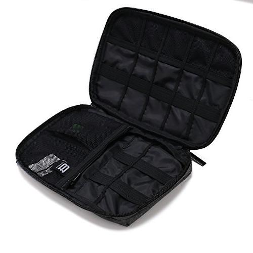 BAGSMART Cable Bag for Hard Cables, Black