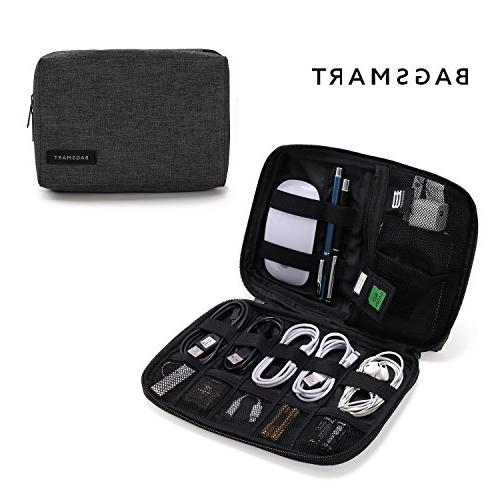 bagsmart small travel electronics cable organizer bag hard d