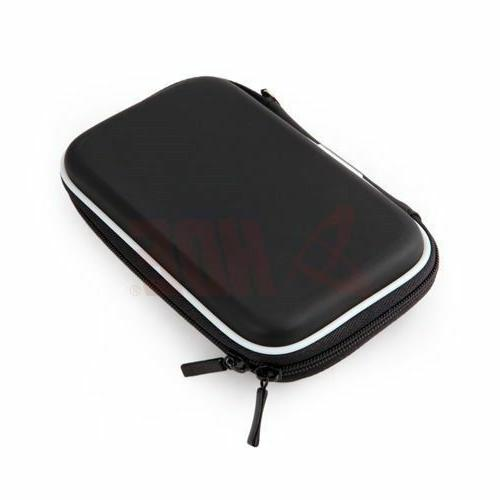"Black Hard Pouch Bag Pouch 2.5"" HDD Nuvi"