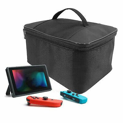 Black Multifunctional Carrying Case Bag for Nintendo Switch