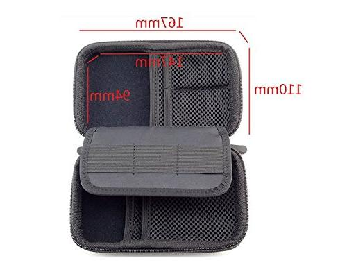 eBuymore Carrying Case for Bank Camera Earbud Charger USB Cable