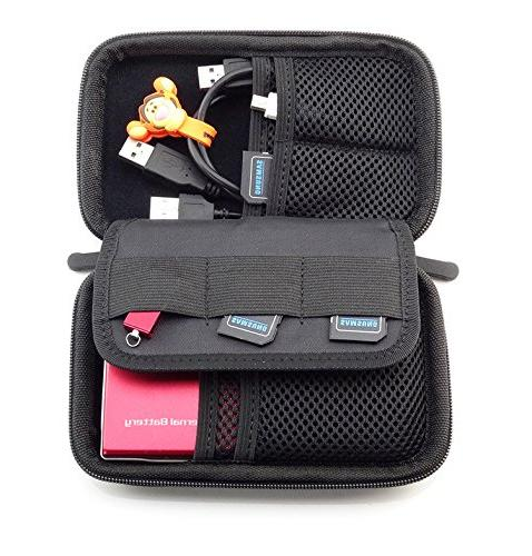 eBuymore Carrying Case Storage Bags cover for Bank Camera Cellphone Earbud Kit Headset Charger Cable