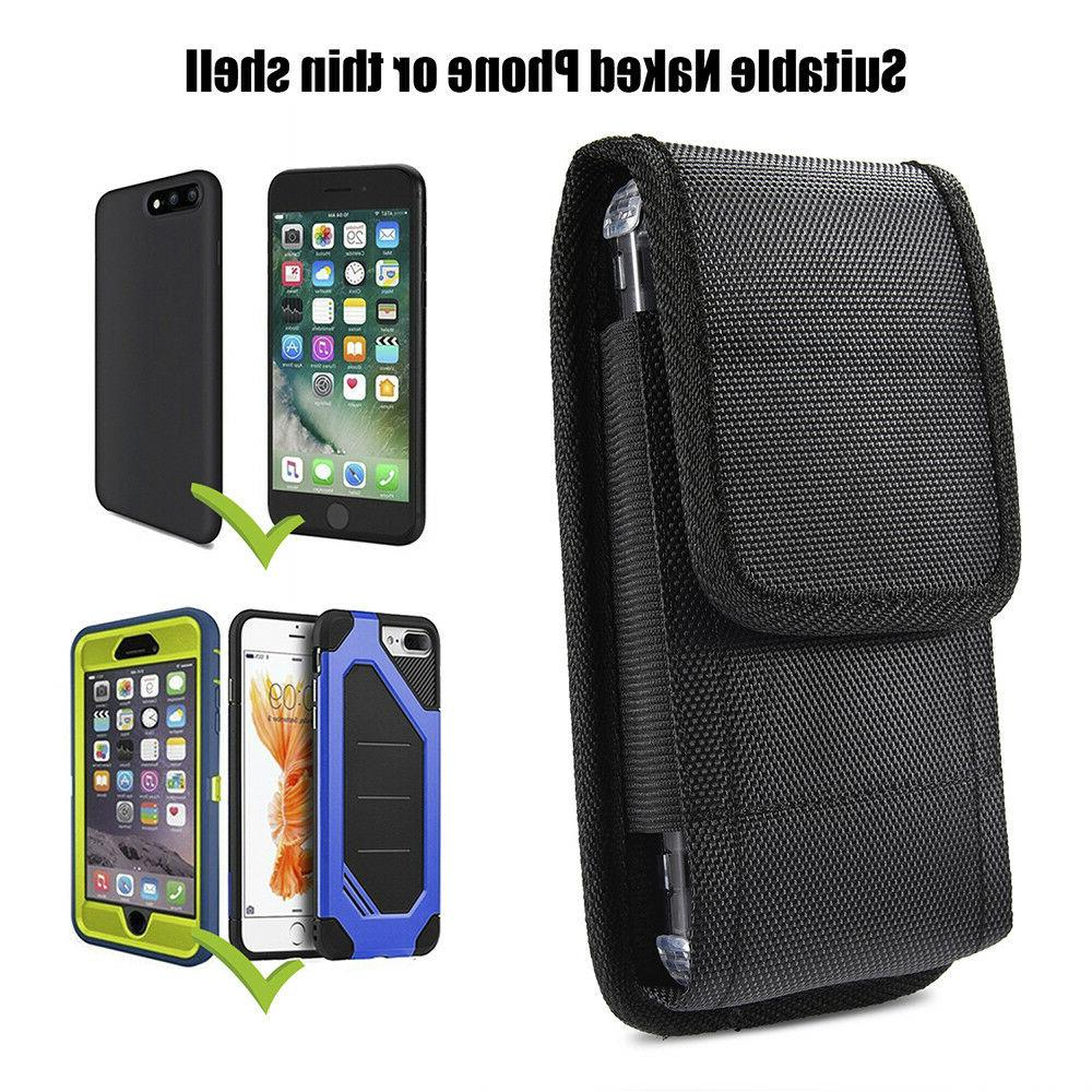 Belt Clip Vertical Pouch Carrying Case For Apple/Samsung Large