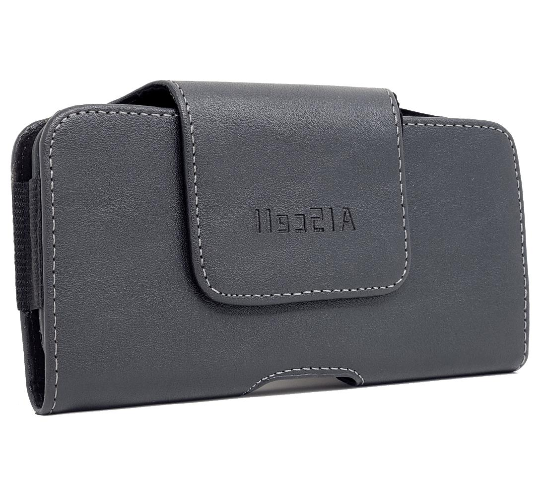 For TCL 10L, Leather Sleeve Pouch Carrying Case