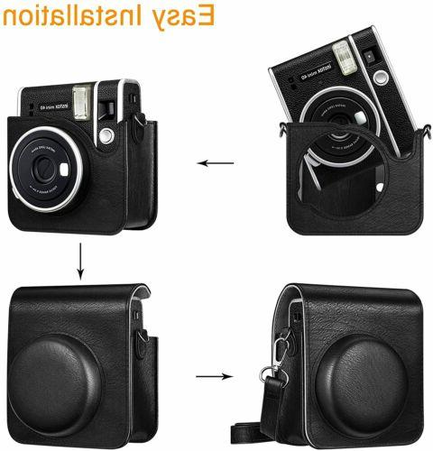 Case For Fujifilm Instax Vegan Leather Carrying Cover